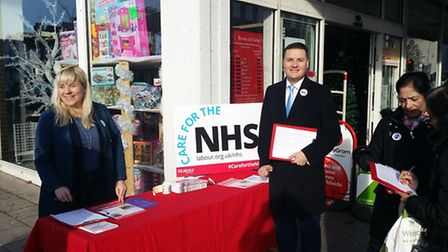 Ilford North MP Wes Streeting promoting his campaign to save King George Hospital's A&E in Barkingsi