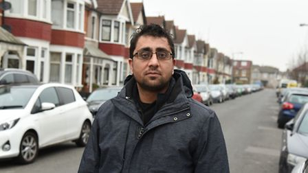 Feroz Patel came to the aid of a woman who was being attacked in Lynford Gardens. Picture Ken Mears.