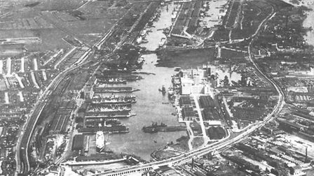 The Royal Docks in about 1935.