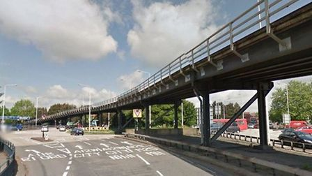 The A12 at the Gallows Corner junction with the A127. Picture: Google Maps.