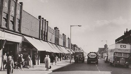 Pioneer Market, in Ilford Lane, in the late 1950s.