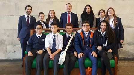 A dozen pupils from King Solomon High School were given a tour of the Houses of Parliament by Ilford