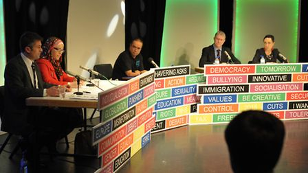 A panel of political guests at the Havering College last year.