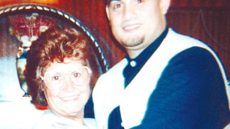 Christopher Lombard and his mum Thelma Lombard.