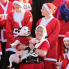 315 Santas got involved in the run - along with some of our furry friends.