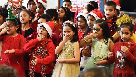 Children at Gearies Primary School performing their Christmas concert.