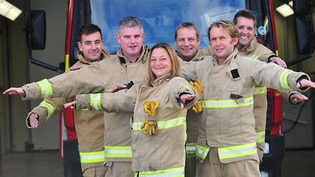 Reason and Southwold Firefighters are getting ready to do a charity skydive.Pictured are Carl Bedfor