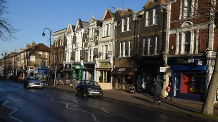 Wanstead High Street, where Redbridge Council want to introduce pay and display machines.