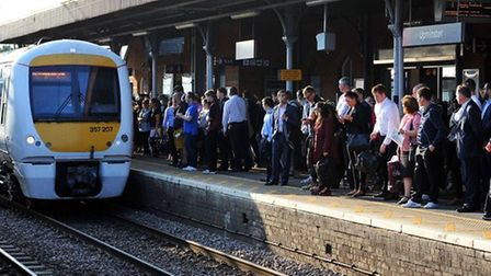c2c train at Upminster station. Picture: PA.