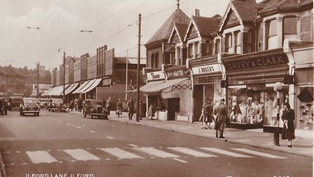 Ilford Lane in the mid 20th century.