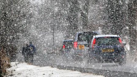 Experts say up to 2cm of snow could be expected tonight. Picture: PA.