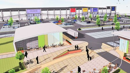 An artists impression of how the former Zephyr Cams site may look after redevelopment.