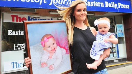 PREVIOUS WINNER: Lowestoft Journal Bonny Baby competition winner. Alyssia Toni Hill with her mum Har