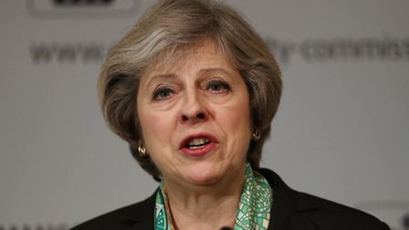 "Prime minister Theresa May has said no deal for Britain is better than a bad deal for Britain"". Pic"