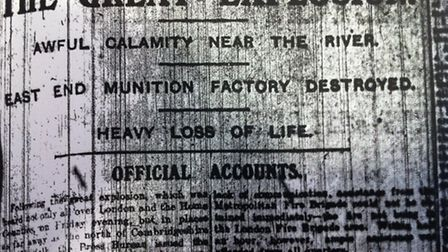The story printed in a Strartford Express report from January 24, 1917.