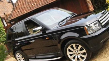 Picture of the Range Rover stolen in Collier Row last Friday.