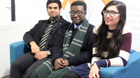London Academy of Excellence students John Alex, Edwin Boadu and Shiza Naqvi have all received Oxbri