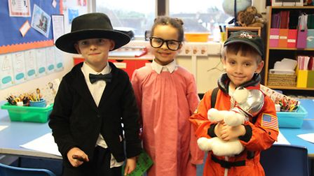 Forest School pupils dressed as a range of famous people from history