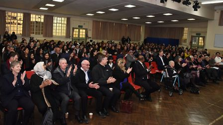 Over 200 people attended the opening ceremony. Picture: Ken Mears