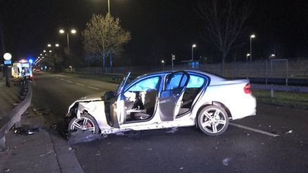 In a second incident dealt with by police on Tuesday night, an 18-year-old driver who was speeding o
