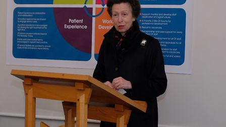 HRH The Princess Royal addressing staff and visitors at Cygnet Hospital Beckton. Picture: Keith Tay
