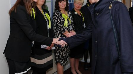 Princess Anne meets with staff and associates of Cygnet Health Care. Keith Taylor, Cameracraft