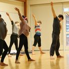 Young dancers engaging in an Orfeo workshop, 2014. Photo by Nathan Gordon