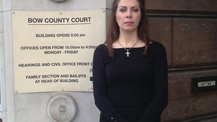Leigh-Jane Miller outside Bow County Court in November