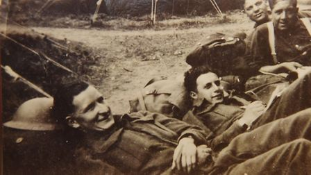 Schera Morris Masters, 97, second right, during the Second World War.