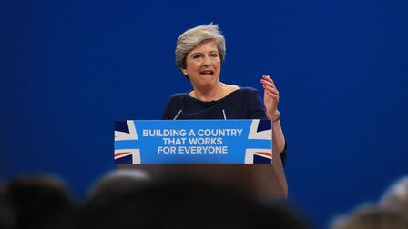 MANCHESTER, UNITED KINGDOM - OCTOBER 04: British Prime Minister and leader of the Conservative Party