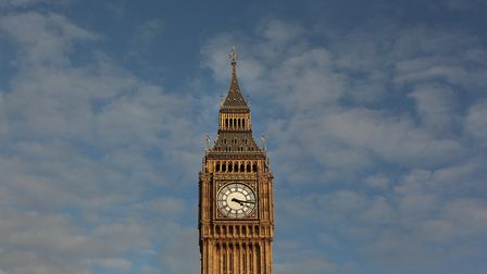 Clock Tower, better known as 'Big Ben', is bathed in afternoon sunshine at Parliament on October 22,