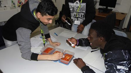 Newham Sixth Form College students tried different brands of beans whilst learning about how to make