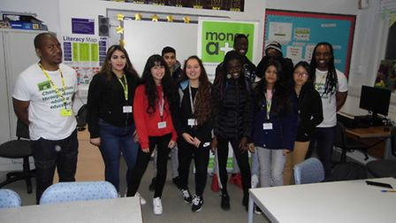 Newham Sixth Form College students at Money A+E's workshop on money management.