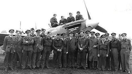 Pilots of 164 Argentine-British squadron, based at Fairlop during the Second World War. Photo: David