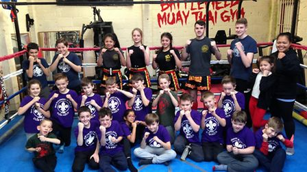 Cub scouts from the 3rd Squirrels Heath Cub Pack trained with junior European martial arts champions