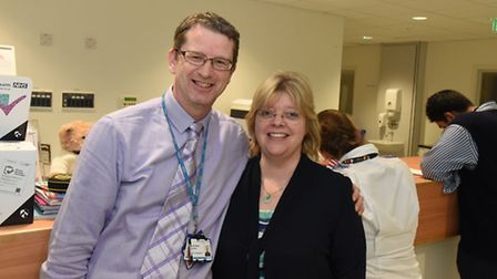 Andy Roberts and senior nurse Sherry Manning