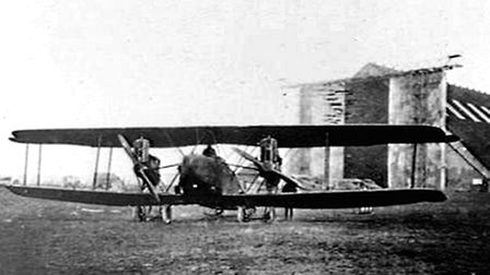 A biplane bomber similar to those Cap Wilfred Chalmers Jameson would have flown in in 1918.
