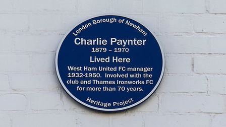 The plaque to Charlie Paynter