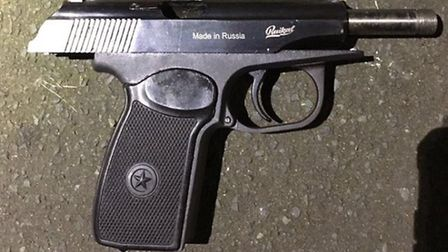 This deadly weapon was seized yesterday (Pic: Twitter@MetTaskforce)