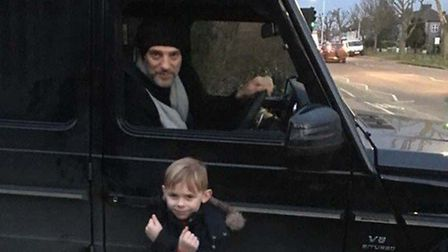 Slaven Bilic posing for a photo with the young Hammers fan.