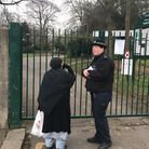 A 80-year-old man is fighting for his life after being stabbed in South Park, Ilford, this morning.