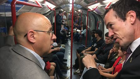 Keith Prince and Peter McNaught, Operational Director of the Bakerloo, Central and Victoria Lines.