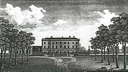 A 1771 drawing of Valentines Mansion, in Ilford. Picture: Sir Charles Raymond of Valentines and the
