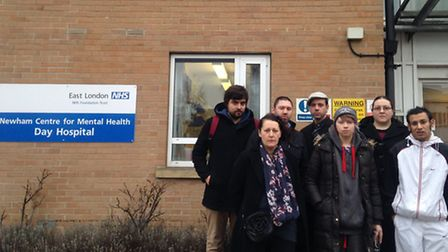 Patients outside Newham Acute Day Hospital