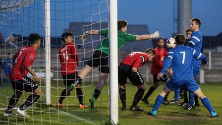 Action from the 2016 Essex Saturday Junior Trophy final between Fitch United and Ryan Under 21s (pic