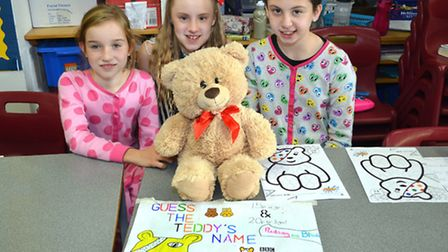 FLASHBACK: Children in Need celebrations at Gunton Primary School last year, with the Guess the Teddies Name competition.
