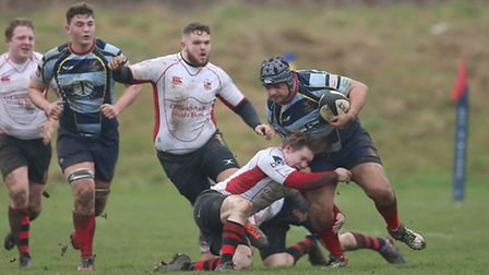 Samuel John goes on the attack for Old Cooperians against Campion (pic George Phillipou/TGS Photo)