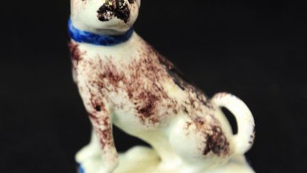 Durrants Auction rooms are set to hold the Derek Melville Collection of Lowestoft Porcelain. Pug dog