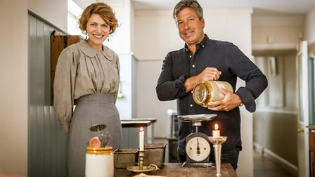 Rochelle, with food expert John Torode. Picture Duncan Stingemore, Wall to Wall.
