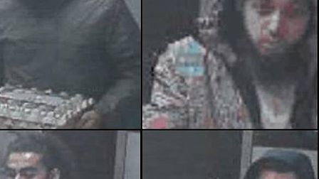"""Detectives wish to speak to these four men following a """"vicious, cowardly attack"""" on a Canning Town"""
